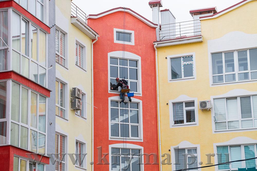 Мойка окон и фасадов зданий в Севастополе